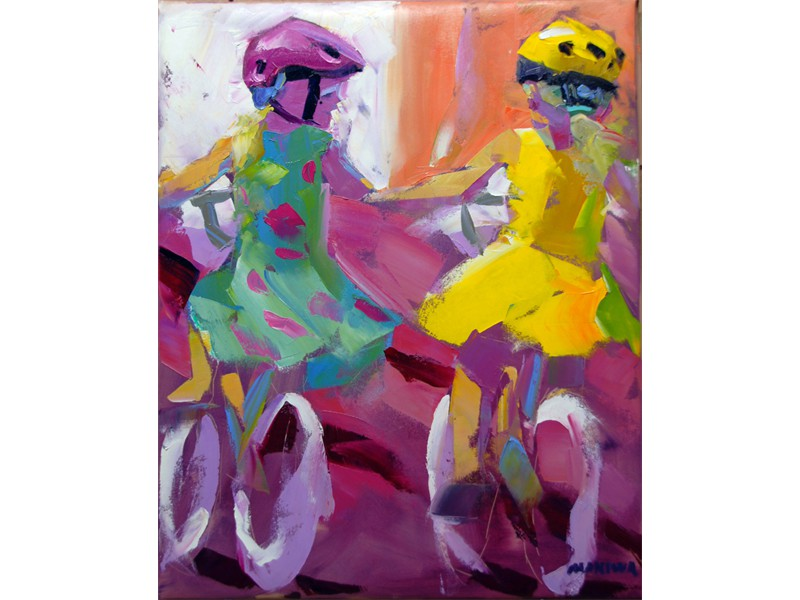 The Little Riders 56X71cm SOLD