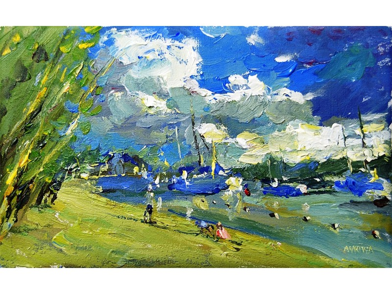 Pereybere Late Afternoon, 25X40cm  SOLD