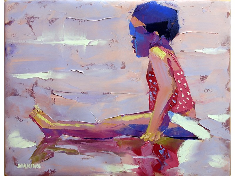 The Little Girl 56x71cm AVAILABLE AT MAKIWA GALLERIES
