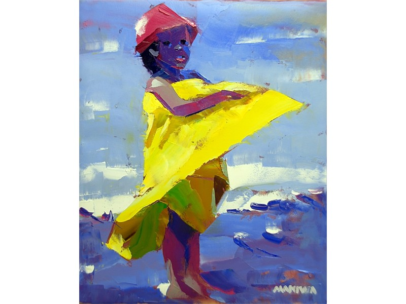 The Yellow Towel 56x71cm SOLD